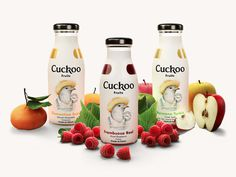 Cuckoo Fruits #packaging #print #fruit #bird