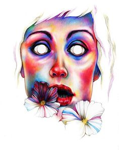 Curiosities by Ania Gareeva #flower #eyes #color #woman