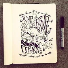 Hand-drawn typography by Nathan Yoder | Inspiration Hut #illustration #design #branding