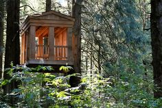 Treehouses of Treehouse Point - Greek Gazebo #treehouse