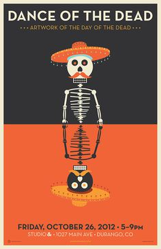 Dance of the Dead. Studio &. #creative #skeleton #vector #of #& #the #cabbage #studio #poster #day #dead