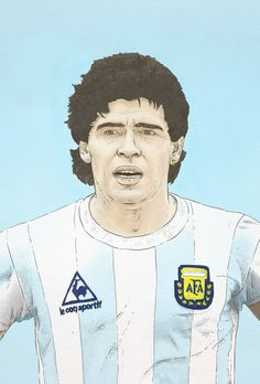 maradona illustration