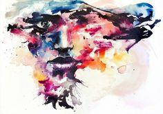CRASH by =agnes-cecile #illustration #colors #watercolor #art