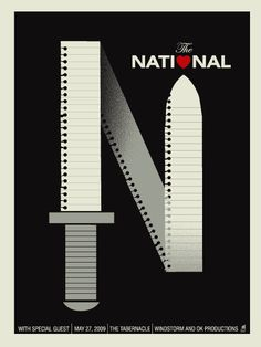 GigPosters.com - National, The #gigposter #screenprint