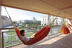 heri&salli flederhaus designboom #hammock house