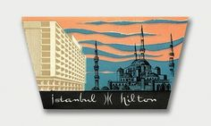 International Mid-Century Modern Luggage Labels – Part 2 / Aqua-Velvet #hotel #overlay #hilton #istanbul