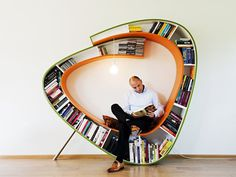 Bookworm Bookshelf #interior design #art #creative #modern #architecture #furniture #interior #decoration #inspiration #cool #amazing #ideas