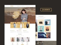JAMMY Ecommerce Website #ecommerce #website #template