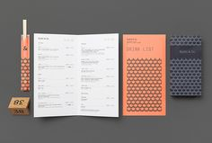 Sushi & Co. by Bond #graphic design #menus #print
