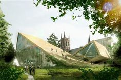 BIG + Fugére Architects National Museum of Fine Arts – Expansion Proposal in Quebec City - eVolo | Architecture Magazine