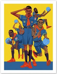 freedarkostore — Thunder Print (2nd Edition) #illustration #freedarko #basketball