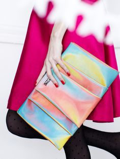 April Clutch by kate spade new york at Gilt #clutch #iridescent #spade #rainbow #kate