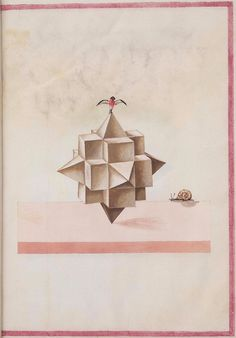 The images below (background spot-cleaned) come from a rather obscure 16th century anonymous paper manuscript containing sketches of geometr #shapes #form #geometry #abstract