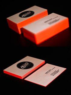 Bright Orange Letterpress | Business Cards Observer #print #cards #business #typography