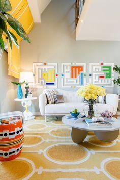 Yellow Apartment – A Bath of Splashy Lights by Hamid Nicola Katrib