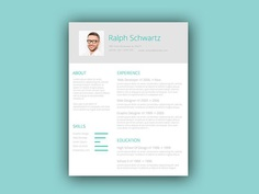 Free Green Style Resume Template with Minimal Design