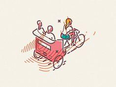 Colour and lines rikshaw