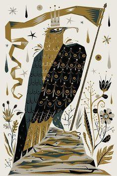 Alberto Cerriteno #hawk #poster #bird