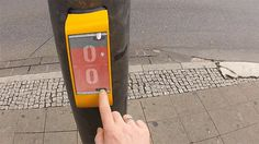 Traffic light that lets you play ping pong with person on the other side of the street in Germany