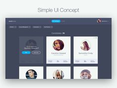 Simple UI concept by NIKITIN