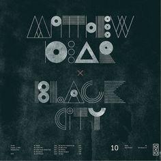 All sizes | 10.Matthew Dear - Black City | Flickr - Photo Sharing! #dear #city #black #matthew #typography