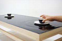 Ripple effect tea table #minimal #tea #furniture #table #digital #ripple