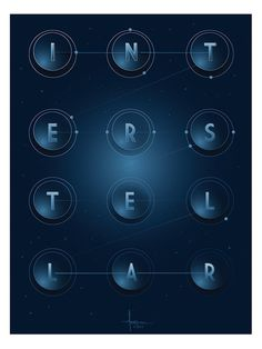 Posters by Orlando Arocena1 #inspiration #creative #movie #interstellar #print #design #space #unique #poster #film