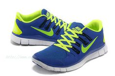 Mens Nike Free 5.0 V4 Sapphire blueFluorescent green Shoes #shoes