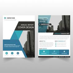 Business brochure template with geometric shapes Free Vector
