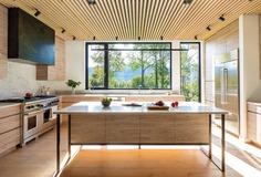 kitchen, wood cabinets, undermount sinks, Vermont / Elizabeth Herrmann Architecture + Design