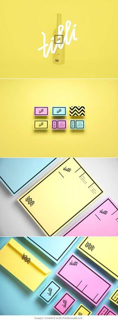 tilli #logotype #stationary #colors #identity #pastel