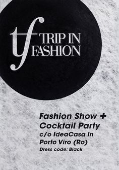 Handmade Typographic Poster for Trip in Fashion - Acrylic on paper - video on Behance by Concreate Studio. #typography #branding #poster #pr