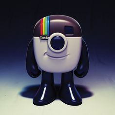 Instagram Logo Mascot Toy Design Concept on the Behance Network #illustration #design