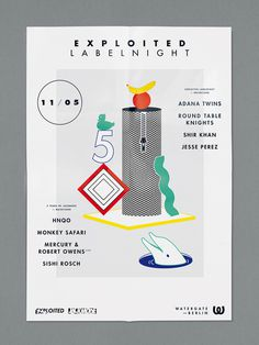 visualism blog: EXPLOITED LABEL NIGHT #visualism #design #graphic #illustration #poster #art