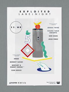 visualism blog: EXPLOITED LABEL NIGHT #visualism #design #graphic #illustration #poster #art