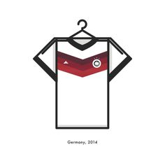 Germany World Cup Winning Football Kit 2014 - Minimal Illustration by Lucas Jubb