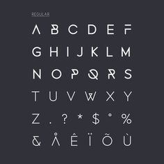 Fonecian Typeface on the Behance Network