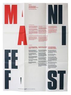 almost Modern : Manifest #modern #almost #manifest #poster #typography
