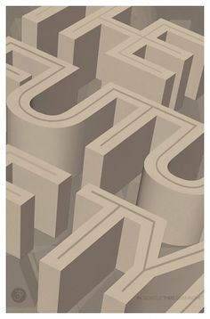 Tom Davie | 2011 Typographic Posters #inline #illustration #poster #type #3d #typography