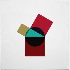 #414 Poppy pythagoras – A new minimal geometric composition each day