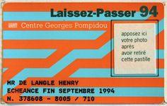 Design Fodder (Centre Pompidou brand by Jean Widmer.) #card #color #branding