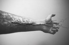 """In My Veins"" by Pierre-Alain D. #blood #white #branch #tree #black #wood #nature #vein #arm"