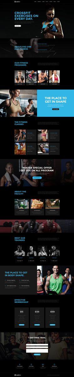 LeadGen Marketing Landing Page - Sports and GYM, buy - https://goo.gl/KD0bMP
