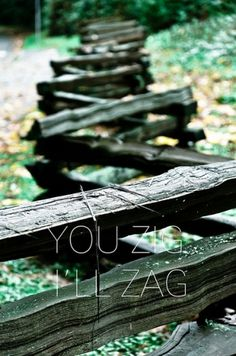 All sizes | YOU ZIG. I'LL ZAG. | Flickr - Photo Sharing! #univers #fence #pakr #stanley #typography
