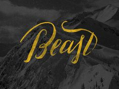 Beast #lettering #typography