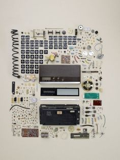 Things Organized Neatly #design #mechanical #flip #product #photography #clock #clocks
