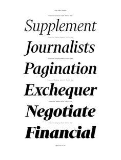 Financier Typeface Family by Klim Type Foundry / Kris Sowersby / AGDA Awards