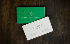 The Katie Boyce Company Stationary Set #monogram #emboss #blind #green