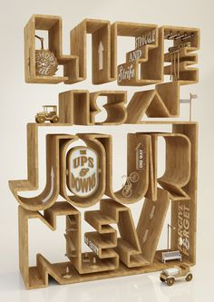 Life is a Journey By Duncan Sham #render #print #poster #type #3d #typography