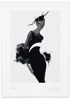 David Downton | Shiro to Kuro #illustration #fashion #david downton